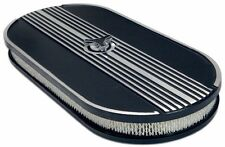 Mustang Finned Alloy Air Cleaner Oval Filter 1967 1968 67 68 289 302 390 Eleanor
