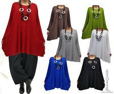 PoCo LAGENLOOK Basic Long Shirt Tunika ❶❷ L-XL-XXL-XXXL 44 46 48 50 52 54 56 58