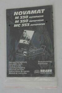 NOVOMAT M330 350 MC353 Autofocus INSTUCTION MANUAL