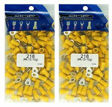 (200 PACK) 12-10 GAUGE YELLOW RING TERMINALS ELECTRICAL WIRE CONNECTORS #8