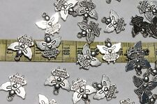 19mm Tibetan Style Pendant Angel Watching Over Me Charm Ant. Silver 25pcs RS77
