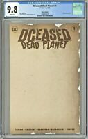 DCeased Dead Planet #1 CGC 9.8 Sketch Edition Partial Blank Cover Variant