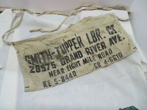 Vintage Advertising Canvas Carpenters Nail Aprons Cloth Smith Tupper LBR Detroit
