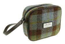 New Premium Harris Tweed Almond Mini Bag – Blue/Green Check