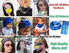 Women Men Kids Wide Stretch Fabric Headband Outdoor Scarf Bandana Mask Hairband