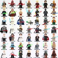 Lego Star Wars Minifigures Jedi Darth Vader Yoda Kylo Ren Clone Jaja Ewok Blocks