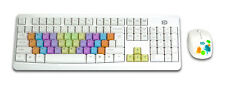 2x Forter G9100 Colorful Waterproof Wireless Keyboard + Optical Mouse Combo Set.