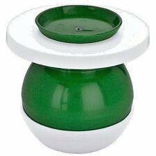 NEW LI'L CUS Cuspidor Green and White Spittoon for Smokless tobacco Lil Cus