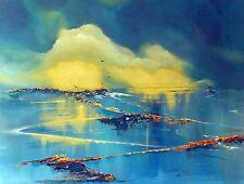 "Original de Elizabeth Williams ""luminiscencia"" español paisaje pintura al óleo de España"