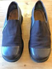NAOT BROWN LEATHER MIX SLIP ON SHOES CUSHIONED INNER RUBBER SOLES SIZE 40 UK 7