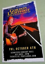 Gordon Lightfoot 2014 Original Concert Poster Carefree Highway Tour
