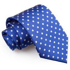 DQT Woven Polka Dot Formal Business Mens Classic Tie Necktie + FREE Matching Bow