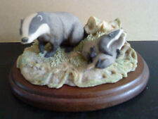 Border Fine Arts Figure Badger RW3 forest Family Chiltern collection