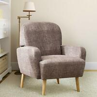 Accent Fabric Sofa Chair Armchair Single with Wood Legs Living Room Lounge Home