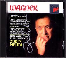 Zubin MEHTA Signiert WAGNER Tannhäuser Parsifal Rienzi SONY CD Karfreitagszauber