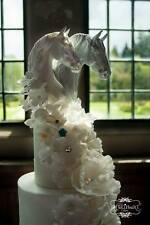 GORGEOUS Cake Toppers Horses Bride Groom Wedding Head Resin Romantic McDermott
