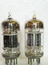 Matched Pair GE 5751 Black Plates 3 Mica Square Getter = 12AX7 ECC83 7025 TUBES