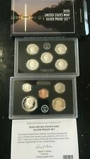 2020 S SILVER PROOF SET US MINT 10 COINS          REVERSE NO NICKEL