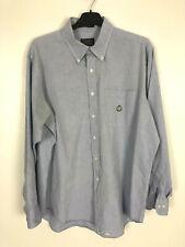 Blue Chaps Ralph Lauren Shirt Long Sleeve Large Collar
