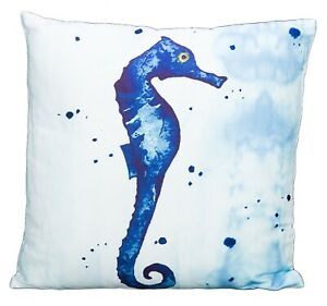 Seahorse Watercolor Accent Throw Pillow 15.75 Inches