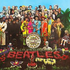 The Beatles-Sgt Pepper's Lonely Hearts Club Band 60's Vinyl LP Sticker, Magnet