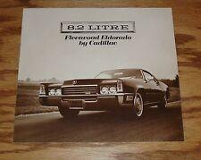 Original 1970 Cadillac Fleetwood Eldorado Foldout Sales Brochure 70