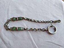 Bijou ancien : chaîne art déco de montre gousset plique à jour.