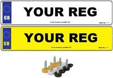 Pair of UK GB Standard MOT Compliant Car Van Number Plates - Front & Back