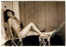 DARK-HAIRED NUDE WOMAN / AKTFOTO DUNKELHAARIG * Vintage 60s French Photo