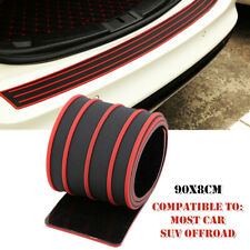 90x8cm Red Car Rear Bumper Sill Protector Plate Rubber Cover Guard Pad Moulding