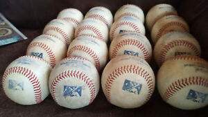 16 Official Minor League Mostly BP baseballs with some Game Baseballs
