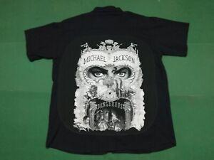 MICHAEL JACKSON   Dangerous - CAMICIA custom con materiale tessile originale - M