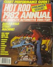 1982 HOT ROD Annual. The Complete Automotive Directory-296 pages-Premier Issue!