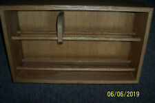 "cd/dvd solid oak storage rack 24"" wide"