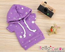 ☆╮Cool Cat╭☆251.【NP-A06】Blythe/Pullip Hoodie Top(Short Sleeves)# Bubble Purple