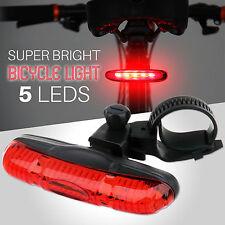 Imperméable Vélo Cycle Arrière Queue Lumière Lampe 5 Super Bright DEL NEUF