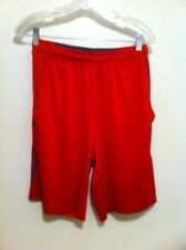 F16 Adidas Climalite Men's Size S Shorts Red With Pockets