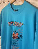 VTG Fruit of the Loom Best Blue Short Sleeve Single Stitch Tee Shirt Size XL