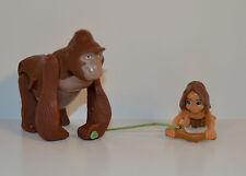 """RARE 1999 Kala & Young Baby Tarzan 4"""" Action Figure McDonald's EUROPE Disney"""