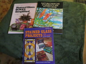 lot (3) stained glass project books