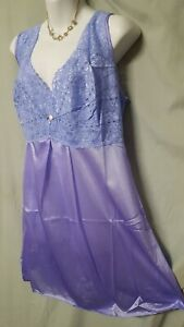 """Amoureuse  Purple Nightgown Lace Babydoll  Sexy Plus Size  4X   62""""  Bust"""