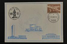 UN UNO Wien Bonn 1983 special cancel white card 17/9/1983 weisse karte