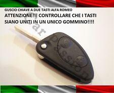 GUSCIO CHIAVE SCOCCA ALFA ROMEO 2 TASTI UNITI 147 GT 156 TELECOMANDO COVER LOGO