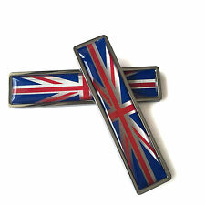 Car Emblem Sticker Union Jack Metal Stainless UK Sticker Emblem For Mini Cooper