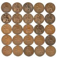 Job Lot (2) - Date Run of 25 x George V Pennies 1911-1936
