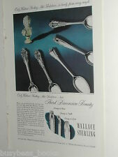 1949 Wallace Silversmiths ad, Sterling, Spoon Patterns