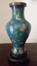 "Chinese Cloisonne Vase Enamel on Copper 6.5"" tall"