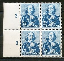 "Nederland  414 PM postfris blok van vier met plaatfout ""vlekje onderaan"""