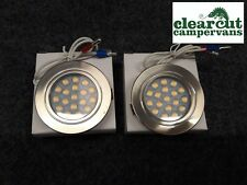 2 X TOUCH OPERATED 12V LED SPOTLIGHTS/DOWNLIGHTER, CAMPERVAN, MOTORHOME LIGHTING