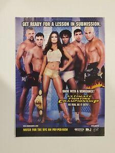 2001 UFC Carmen Electra Chuck Liddell Tito Ortiz ad  *Free Shipping**